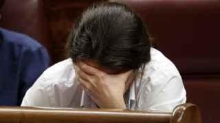 Pablo Iglesias, en un momento del debate en el Congreso de los Diputados.