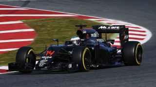 Fernando Alonso, en su McLaren Honda.