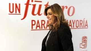Susana Díaz, a su llegada al Comité Federal extraordinario del PSOE.