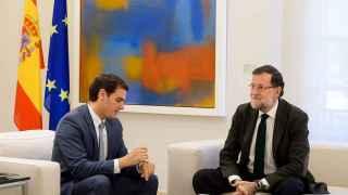 El líder de C's, Albert Rivera, y el presidente del Gobierno en funciones, Mariano Rajoy.