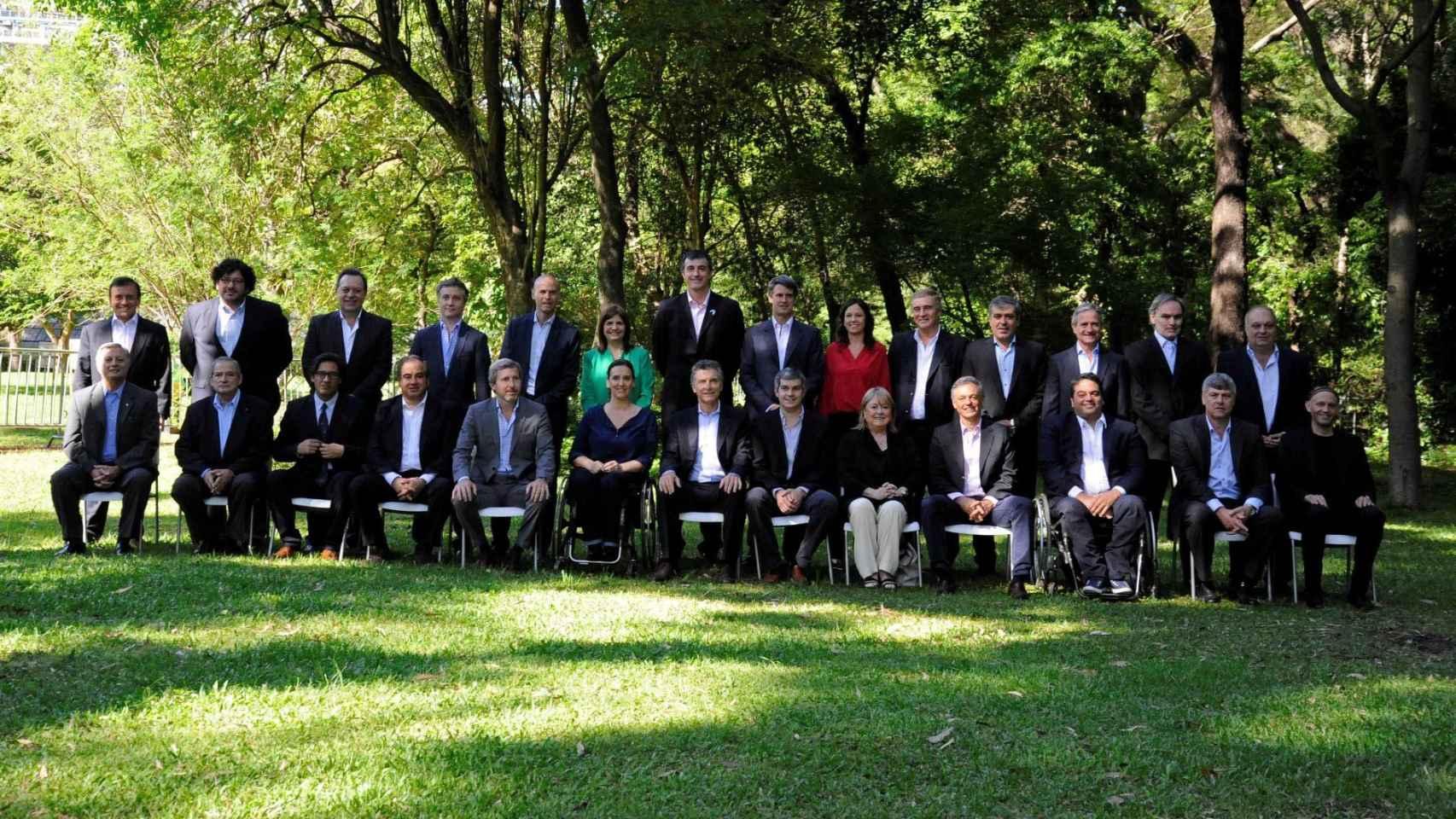 Gabinete de Gobierno del presidente argentino Maurico Macri.