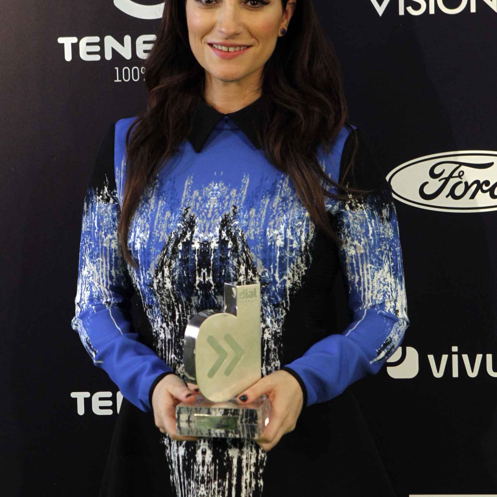 La artista ha sido una de las premiadas de la 26 edición de los premios Cadena Dial