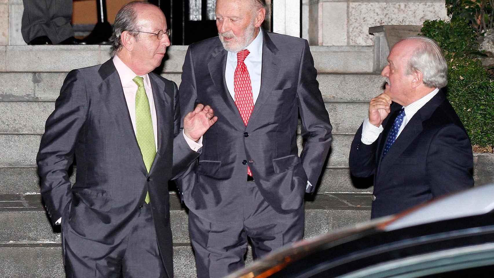 Rafael Spottorno, Alberto Aza y Fernando Almansa, en junio del 2014 en Madrid.