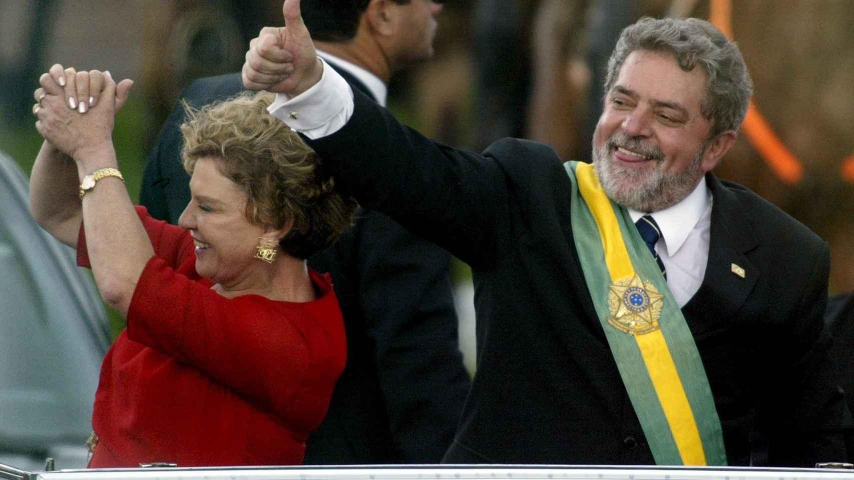 Lula da Silva tras asumir la presidencia en 2003.