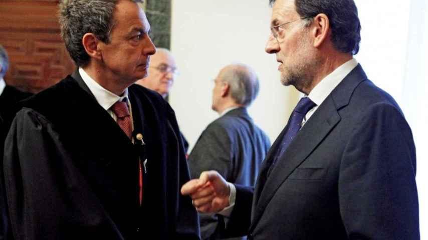 José Luis Rodríguez Zapatero y Mariano Rajoy.