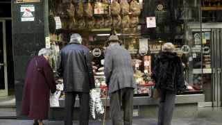Escaparate de embutidos en Madrid
