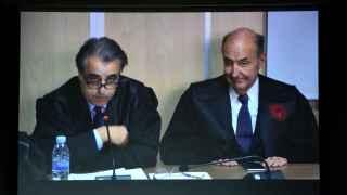 Los abogados de la Infanta Cristina ,Pau Molins  y Miquel Roca Junyen.