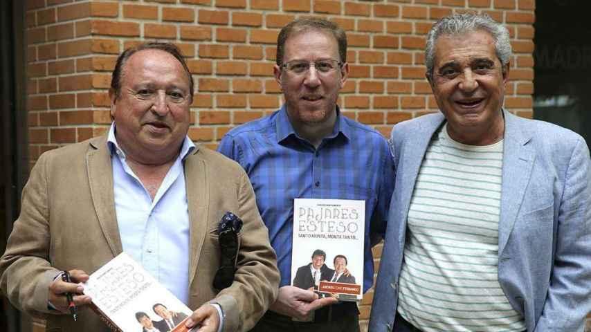 Fernando Esteso y Andrés pajares. Y en el centro, su biógrafo Juan José Montijano