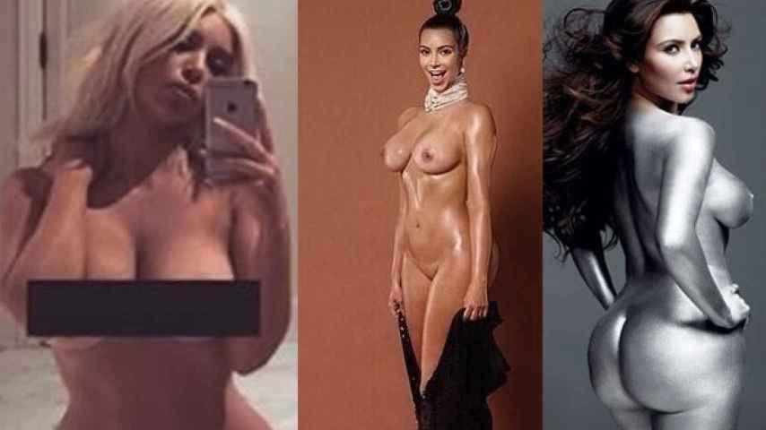 Kim Kardashian, sino es noticia, se desnuda