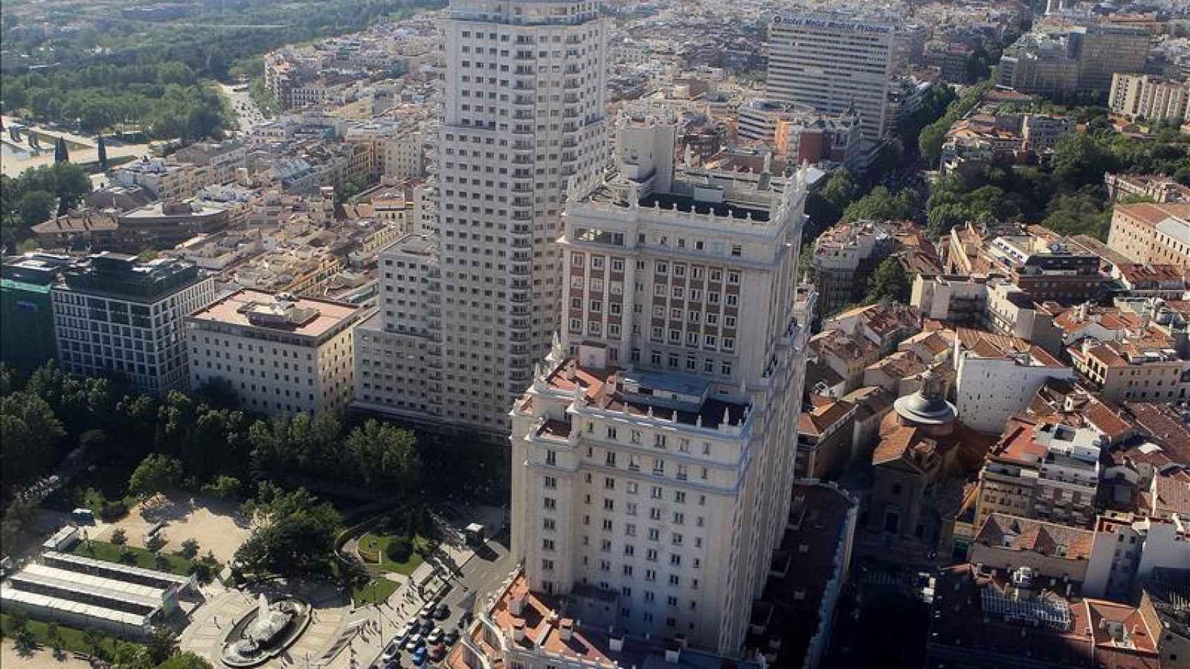 Edificio España y Torre Madrid, imagen de archivo.