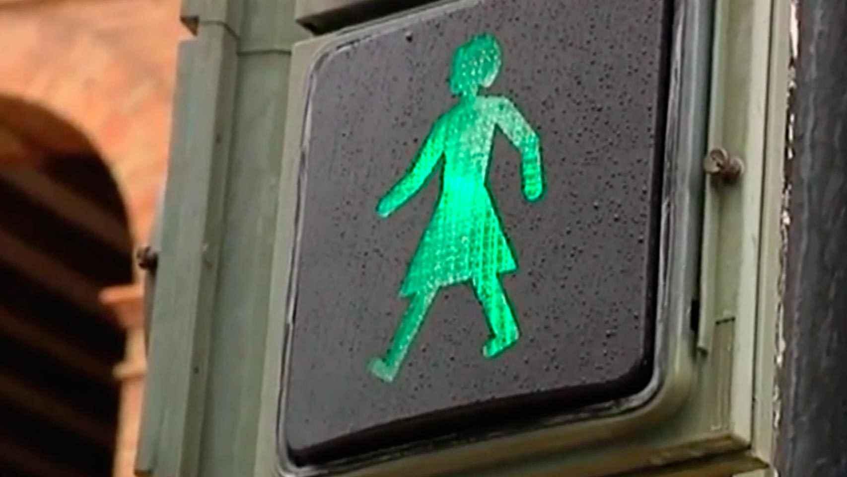 El semáforo instalado en Valencia.
