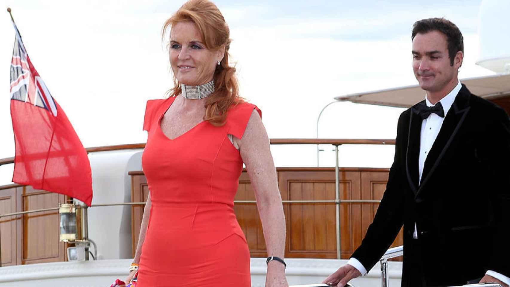 Sarah Ferguson no quiso hablar de su relación con el español Manuel Fernández