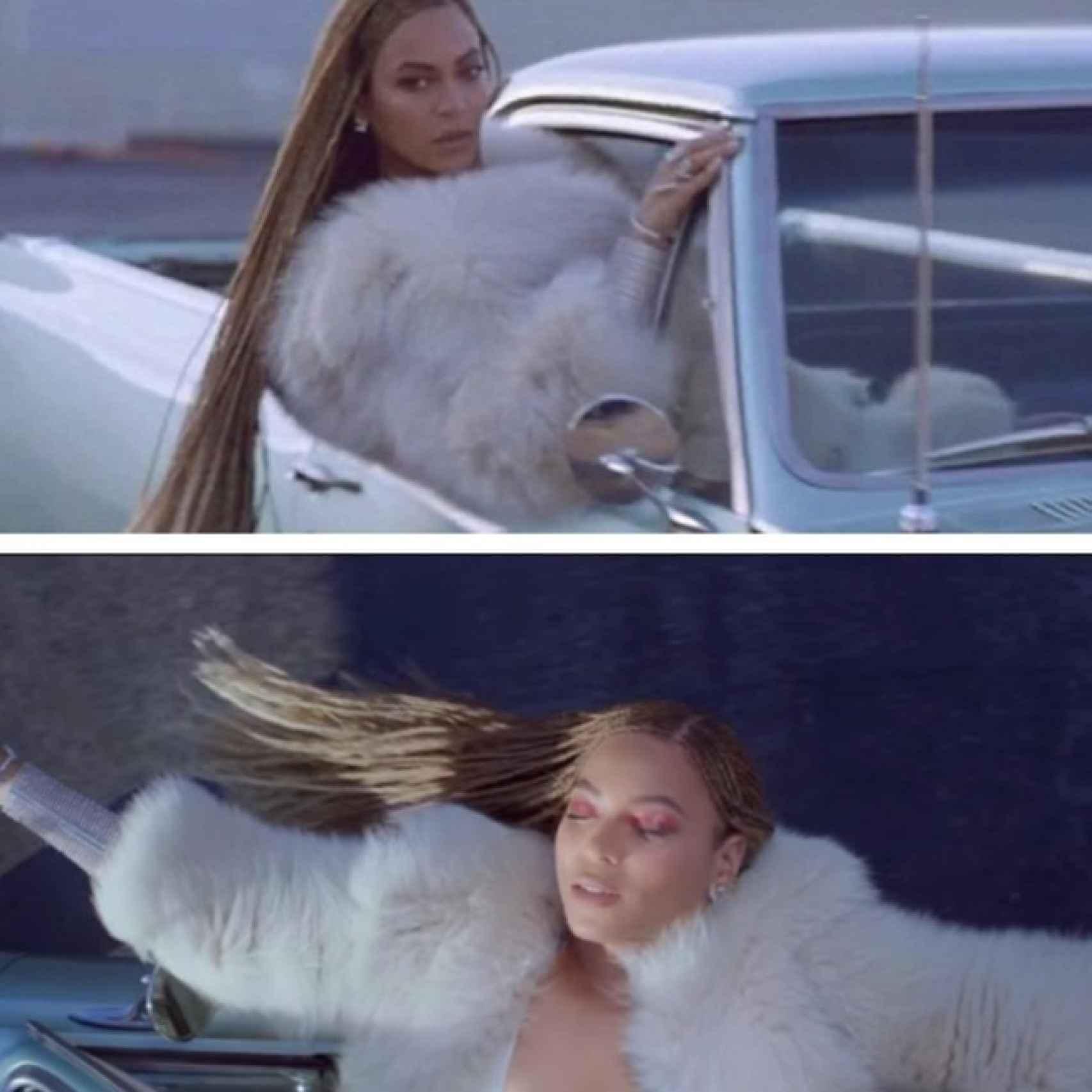 Beyoncé en el videoclip de Formation