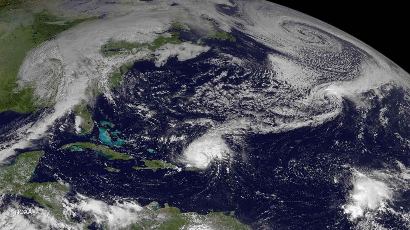 Imagen por satélite del Huracán Gonzalo en 2014.