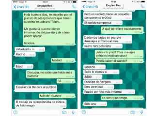 Estos son los mensajes de Whatsapp que ha recibido Érika