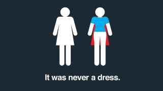 Imagen de la campaña nunca fue un vestido