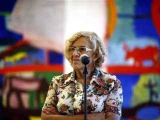 Manuela carmena, durante una rueda de prensa.