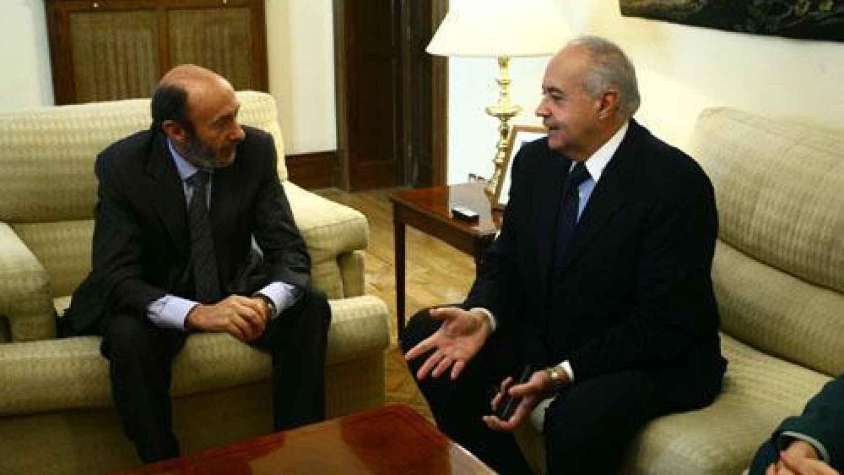 El productor quiso agradecer al entonces Ministro del Interior, Alfredo Pérez Rubalcaba, la actuación policial