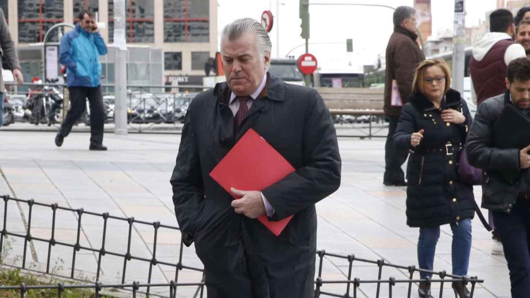 Luis Bárcenas a su llegada a los Juzgados de Plaza de Castilla