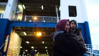 Lesbos, Grecia. A la espera de un ferry.