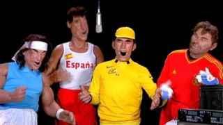 Fotograma de una de las sátiras de los guiñoles de Canal+ Francia sobre el deporte español.