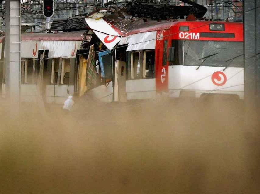 Imagen de uno de los trenes tras el atentado.