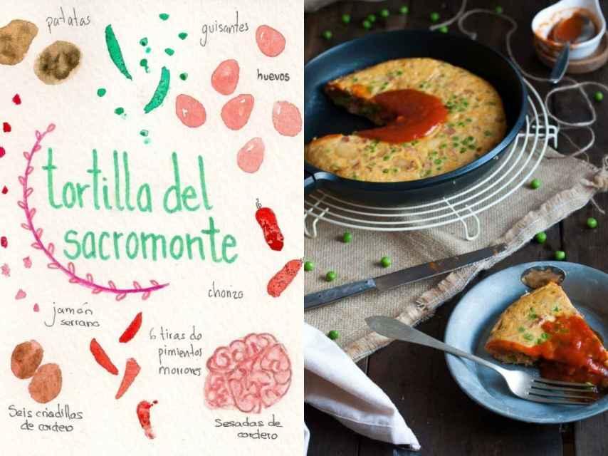 Estos son los dibujos que acompaña con sus recetas