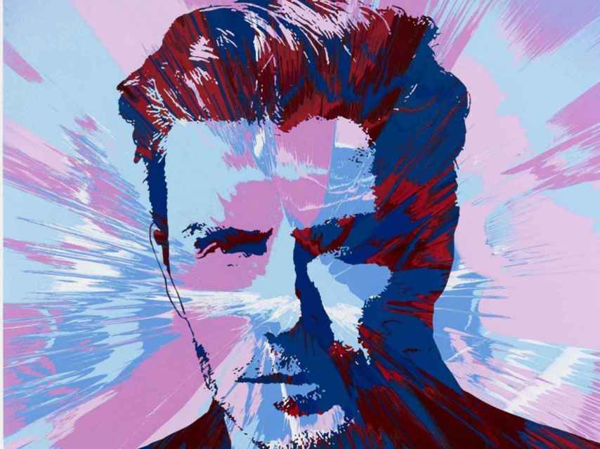 Retrato de David Beckham realizado por Damien Hirst.