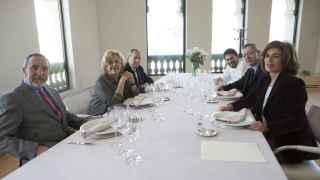 Comida de alcaldes en el Palacio de Cibeles