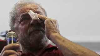 Lula no pudo contener las lágrimas el día que lo llevaron a declarar por presunta corrupción.