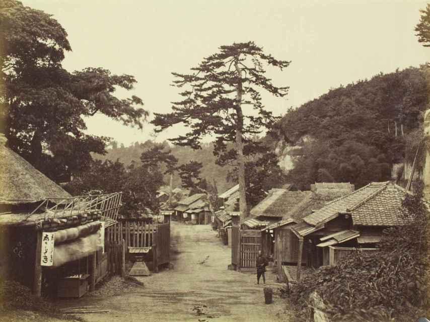Calle principal de Kanagawa (1860-1900).