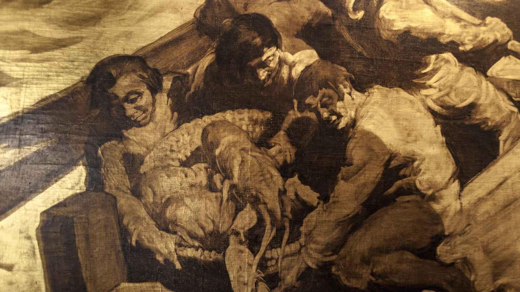 Detalle del cuadro de Sert, La república de los pescadores