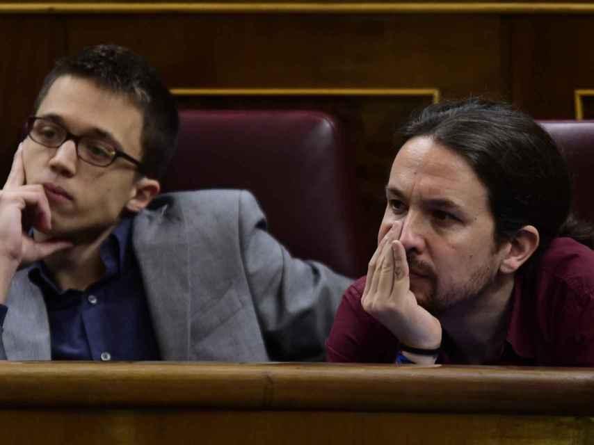Errejón e Iglesias en el Congreso.