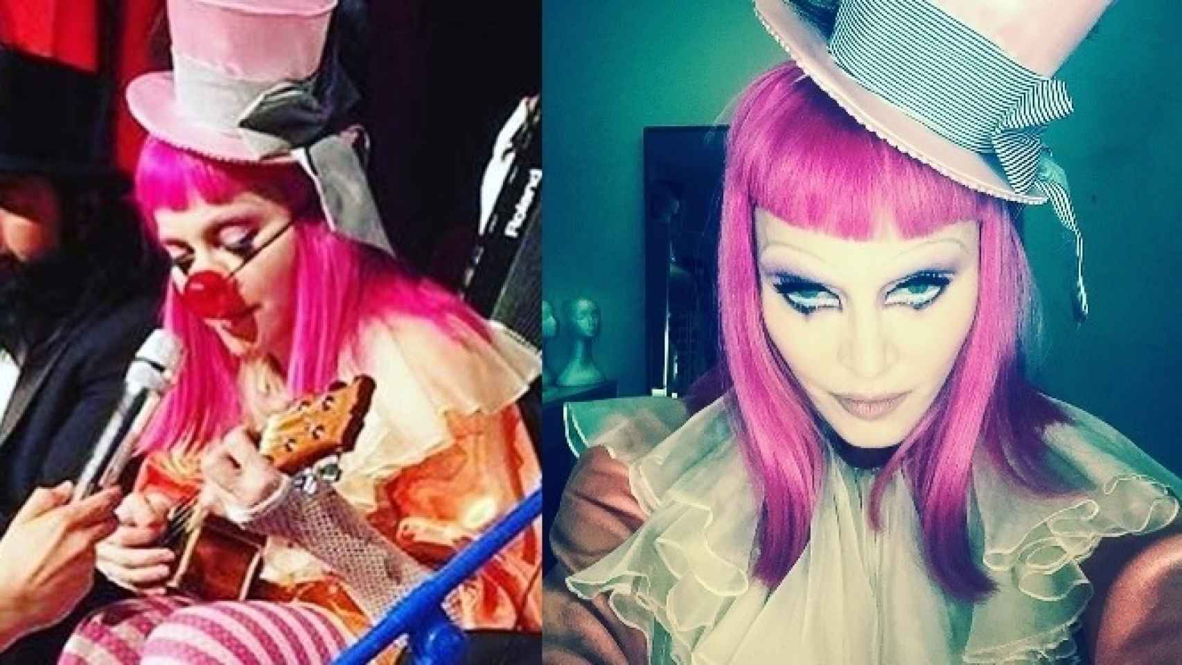La cantante disfrazada de payaso para su concierto en Australia
