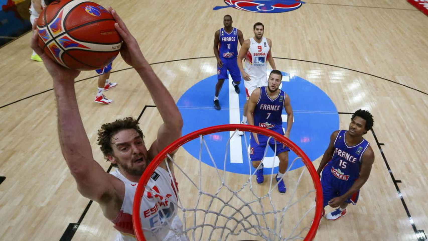 Pau Gasol, durante el encuentro ante Francia en el pasado Eurobasket.
