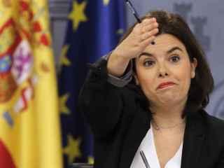 Saénz de Santamaría atiende a los medios este viernes tras el Consejo de Ministros