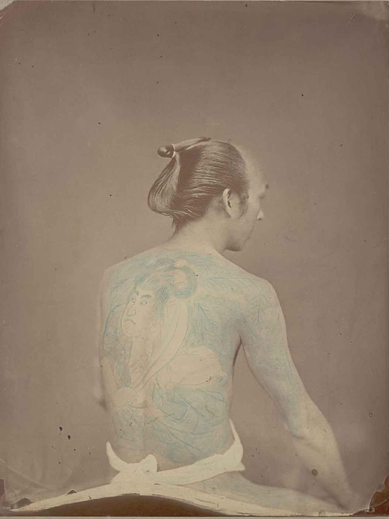 Retrato de betto (novio) tatuado, sin fecha.