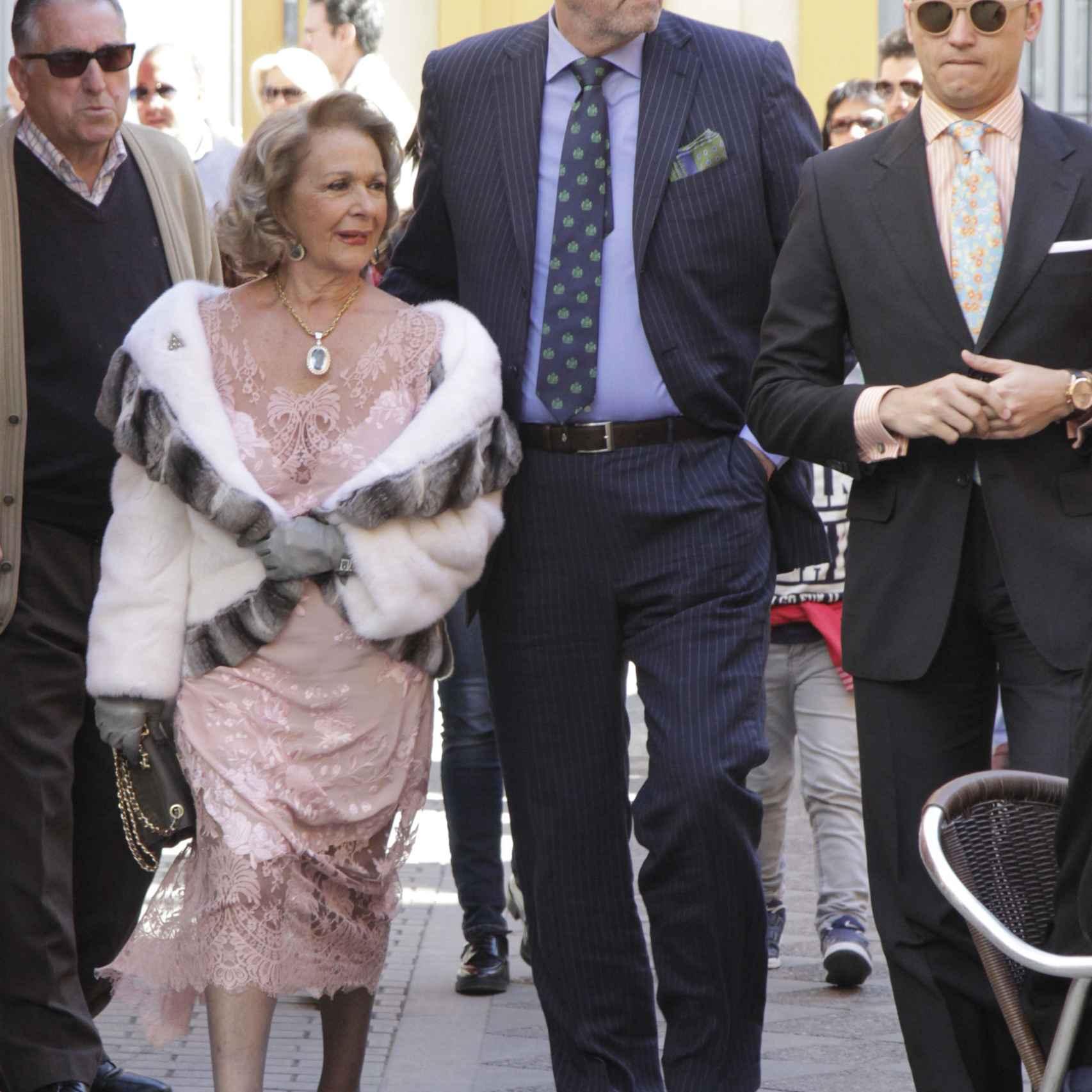 Diego Gómez, ex pareja de Isabel Pantoja, también ha acudido a la ceremonia