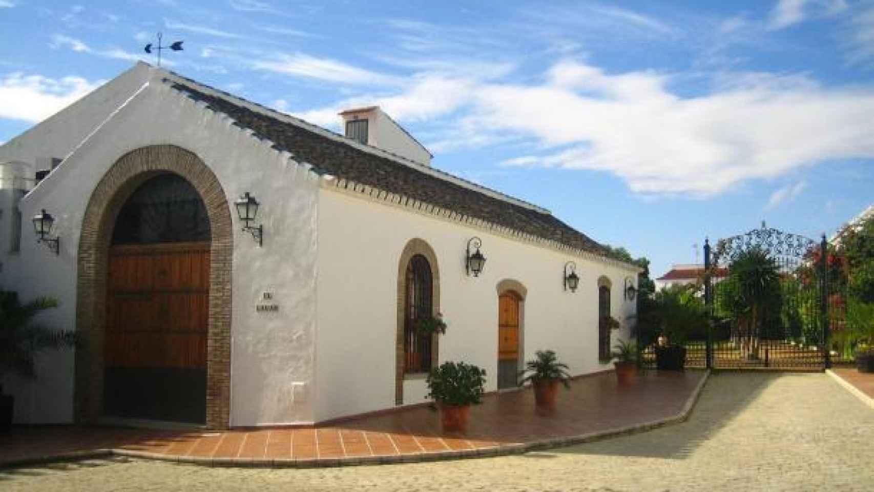 Fachada de la Hacienda de Santa María donde se celebra el banquete