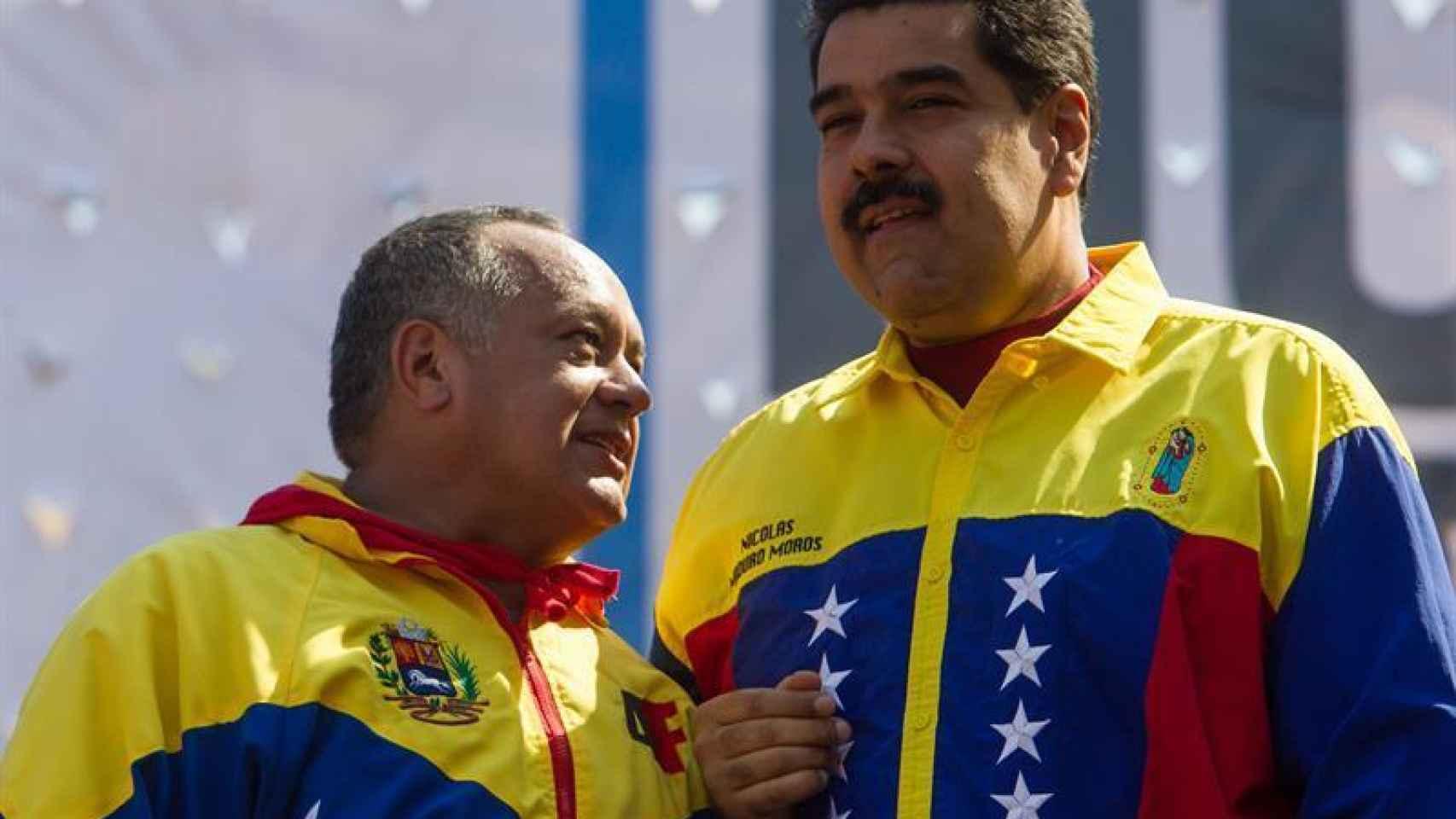Cabello, en una manifestación reciente junto a Nicolás Maduro.