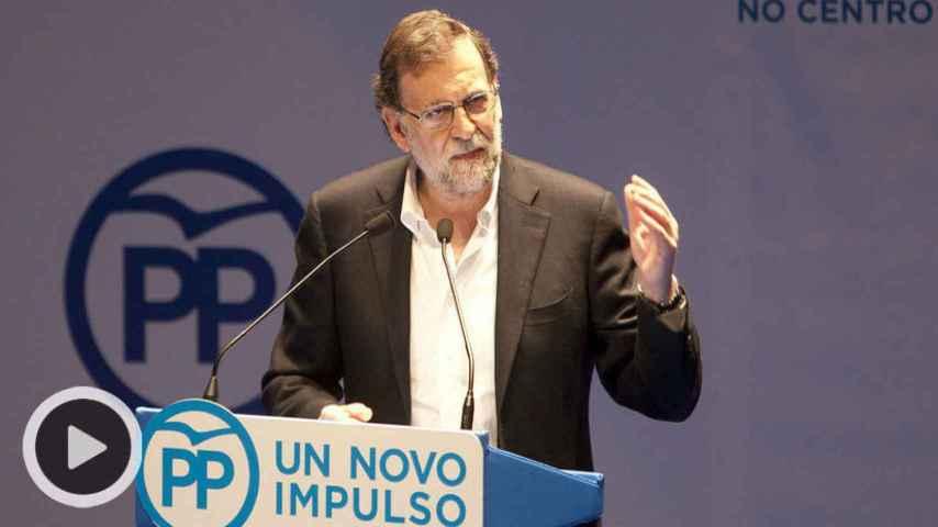 Mariano Rajoy, durante su intervención en Pontevedra