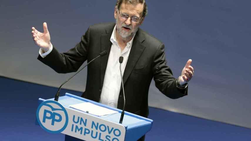 Mariano Rajoy durante un acto en Pontevedra.