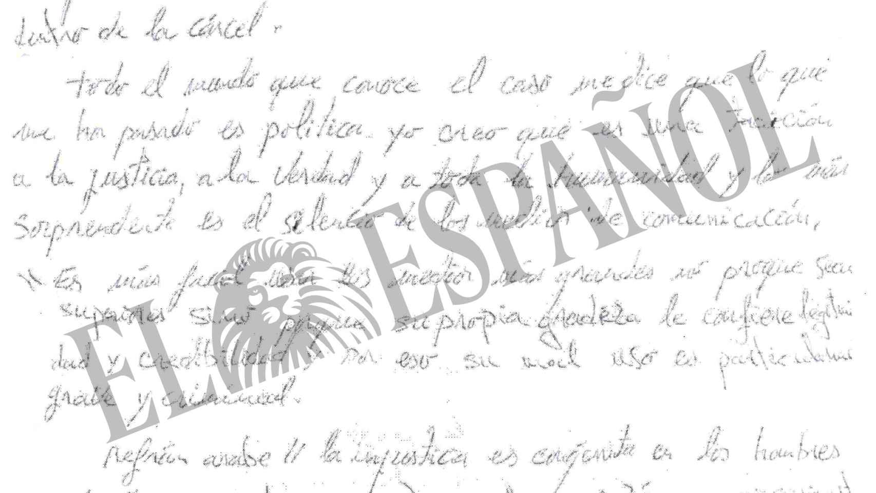 Fragmento de la carta de Zougam