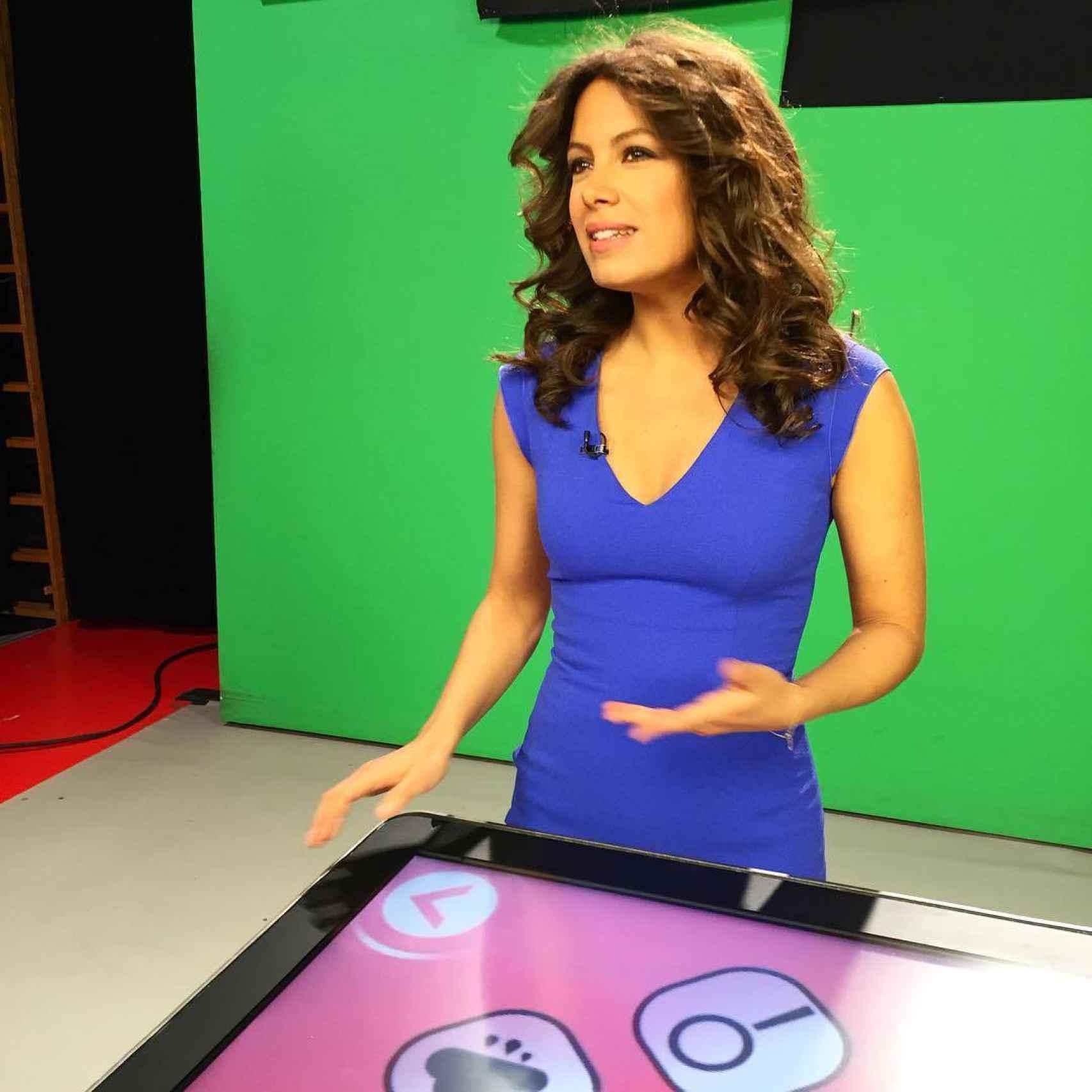 Laura Madrueño en el set de rodaje de Cuatro