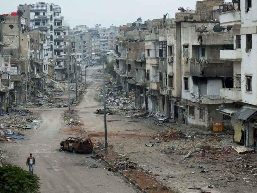 El barrio de al-Khalidiya en la urbe de Homs, en noviembre de 2012.