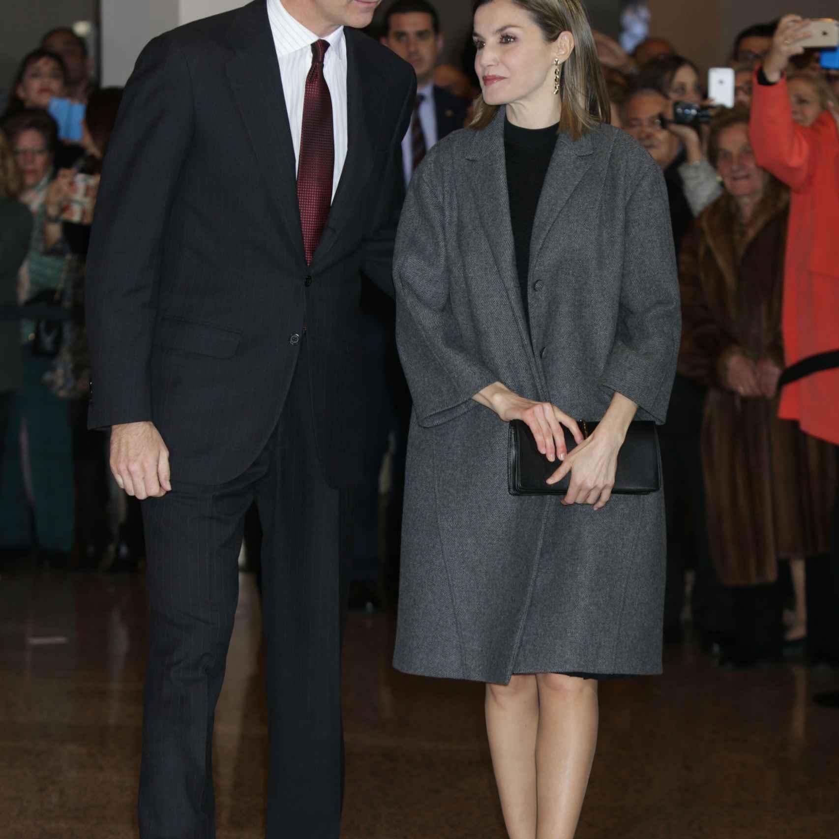 Los Reyes a su llegada al Auditorio de Madrid el pasado viernes
