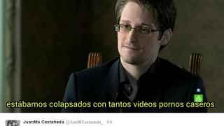 Uno de los montajes que bromean sobre la entrevista a Edward Snowden en 'El Objetivo'.