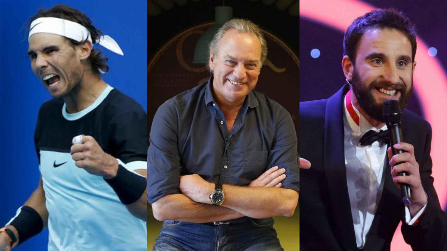 Rafa Nadal, Bertín Osborne y Dani Rovira, tres jefes ideales.