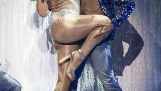 Mariah Carey en el concierto de su gira en Glasgow (Reino Unido)