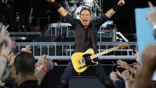 Bruce Springsteen en un concierto de su gira